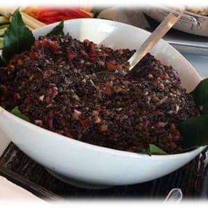 סלט עדשים שחורות - נוי קייטרינג