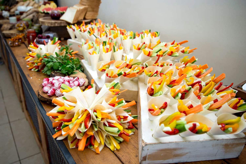 ירקות בקונוס-נוי קייטרינג